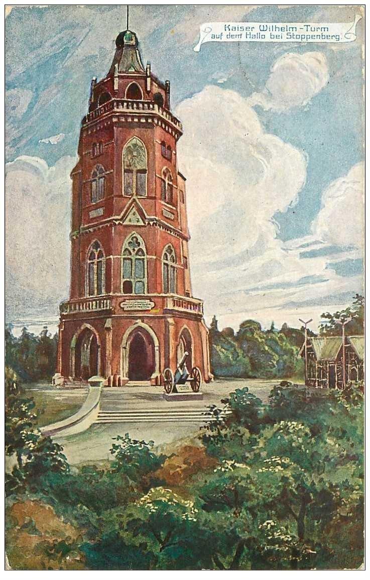 carte postale ancienne ALLEMAGNE. Stoppenberg Kaiser Wilheim Turm 1910