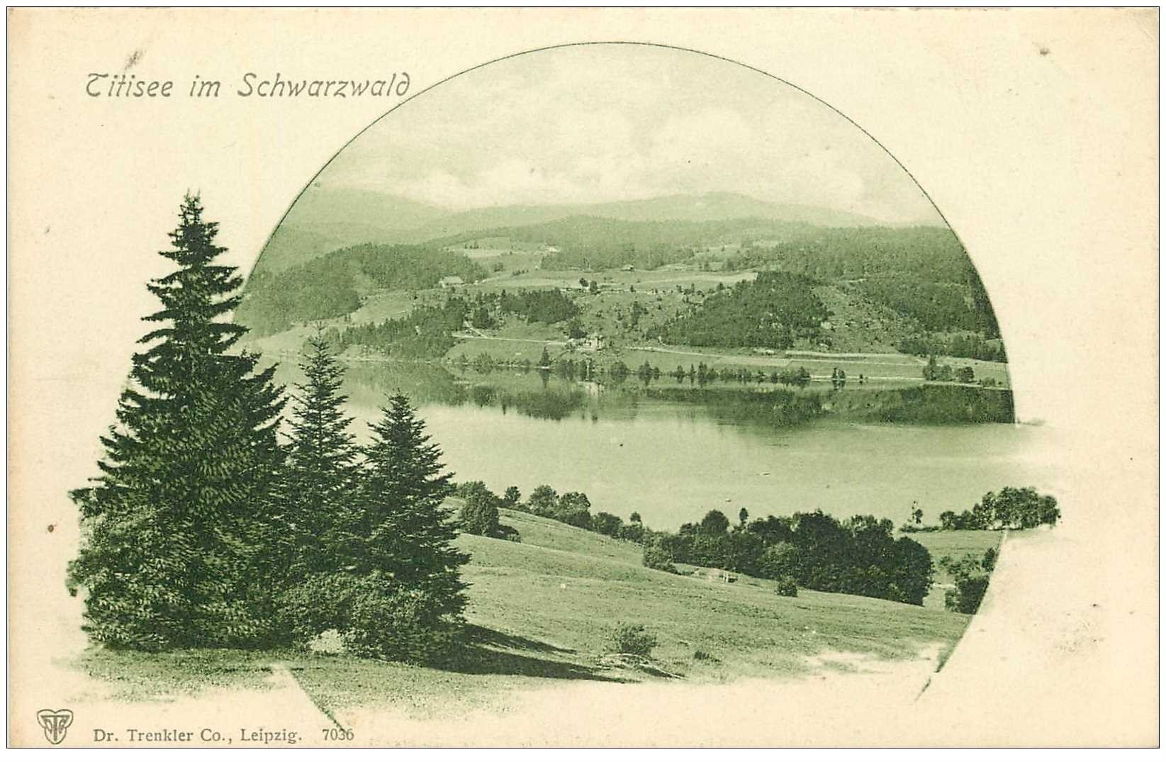 carte postale ancienne ALLEMAGNE. Titisee im Schwarzwald vers 1900...