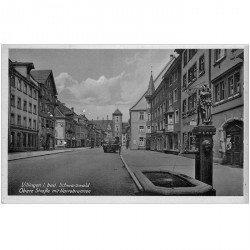 carte postale ancienne Allemagne. Villingen i Bad. Schwarrzwald Obere Strasse mit Narrobrunnen