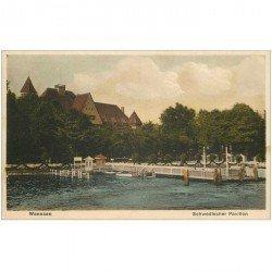 carte postale ancienne Allemagne. WANNSEE Schwedischer Pavillon