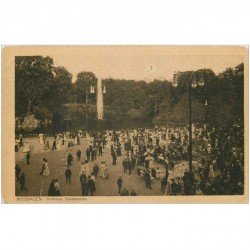 carte postale ancienne Allemagne. WIESBADEN. Kurhaus Gartenseite 1924