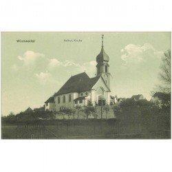 carte postale ancienne Allemagne. WINNWEILLER. Kathol Kirche