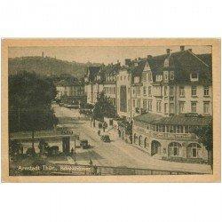 carte postale ancienne Arnstadt Thür Bahnhofstrasse