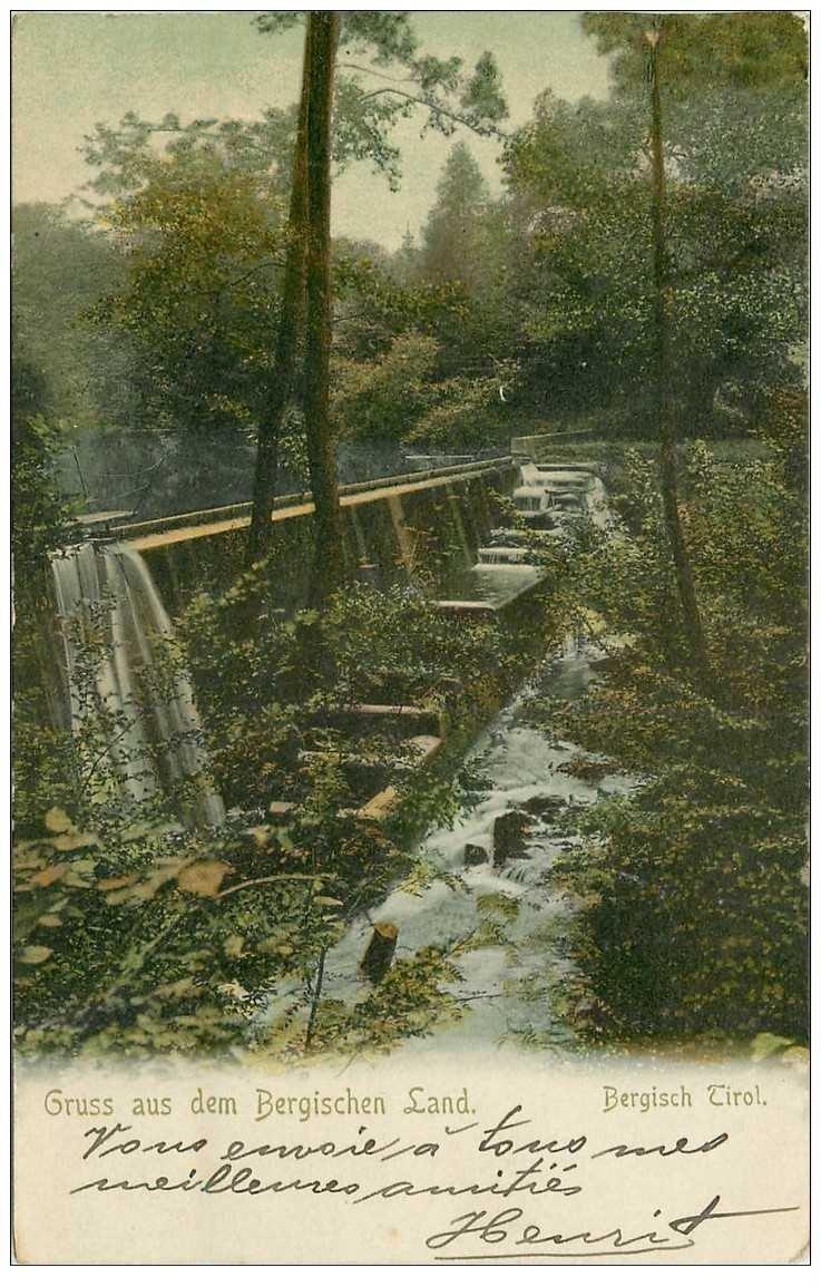 carte postale ancienne BERGISCH TIROM. Gruss aus dem Bergischen Land 1911