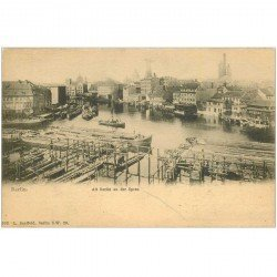 carte postale ancienne BERLIN. Alt Berlin an der Spree vers 1900