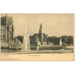 carte postale ancienne BERLIN. Das Bismarckdenkmal vers 1900
