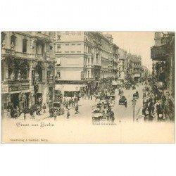 carte postale ancienne BERLIN. Gruss aus Friedrichstrasse vers 1900 Kaiser Hôtel