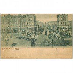 carte postale ancienne BERLIN. Hallesches Thor vers 1900
