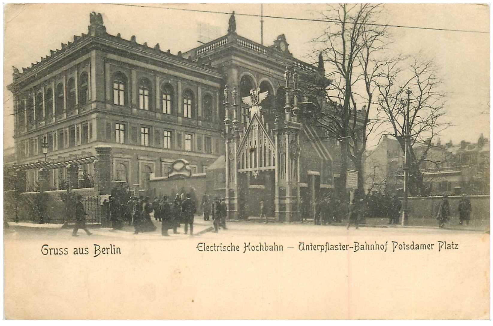 carte postale ancienne BERLIN. Russ aus Electrische Hochbahn Potsdamer Platz vers 1900