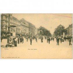 carte postale ancienne BERLIN. Unter den Linden vers 1900