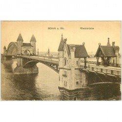 carte postale ancienne BONN. Rheinbrücke