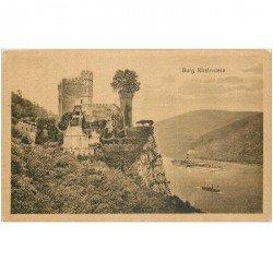 carte postale ancienne Burg Rheinstein 1919