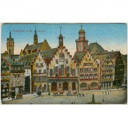 carte postale ancienne DEUTSCH ALLEMAGNE. Frankfurt Römer (mini pli coin gauche)...
