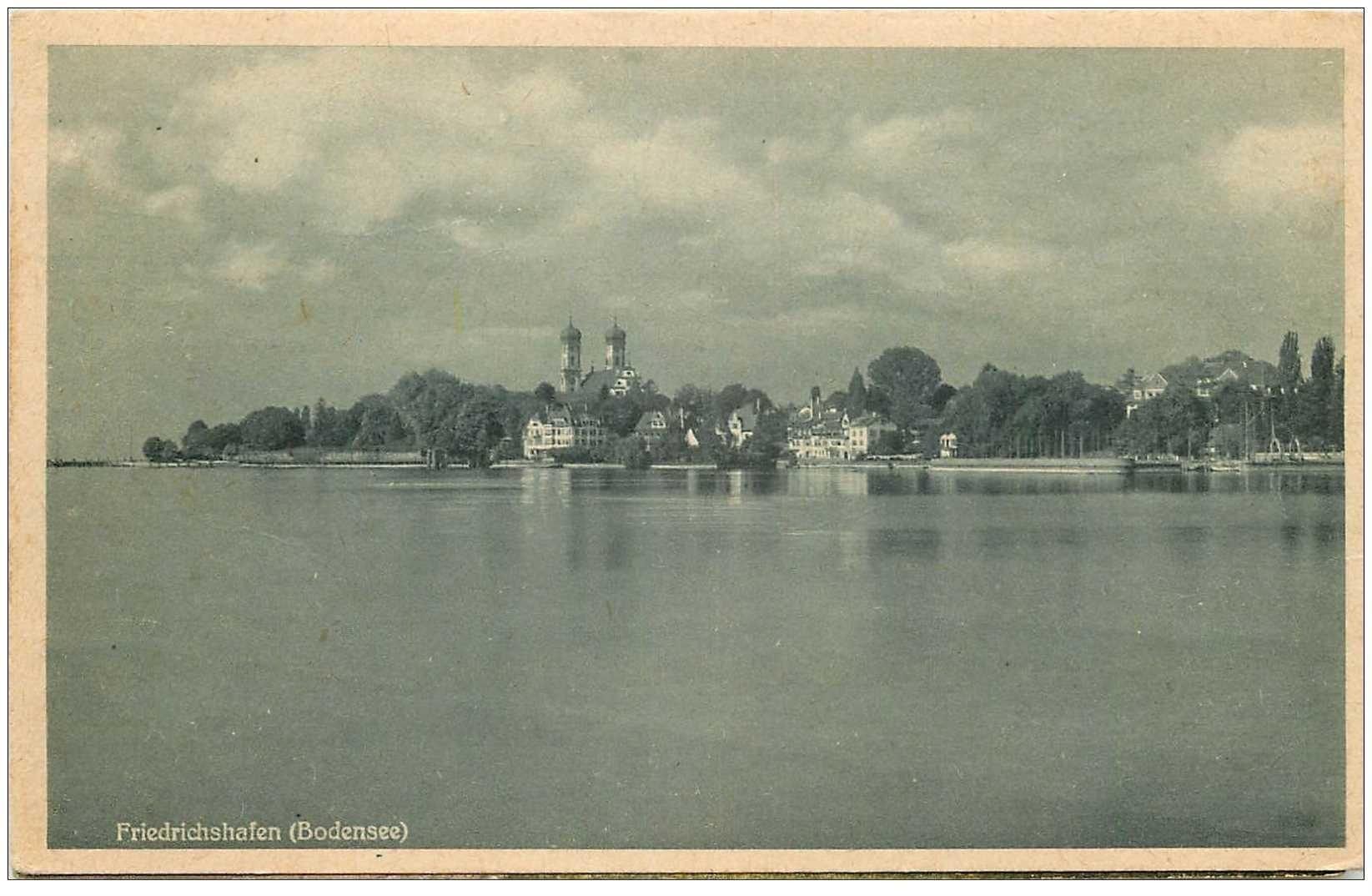 carte postale ancienne DEUTSCH ALLEMAGNE. Friedrichshafen Bodensee 1948