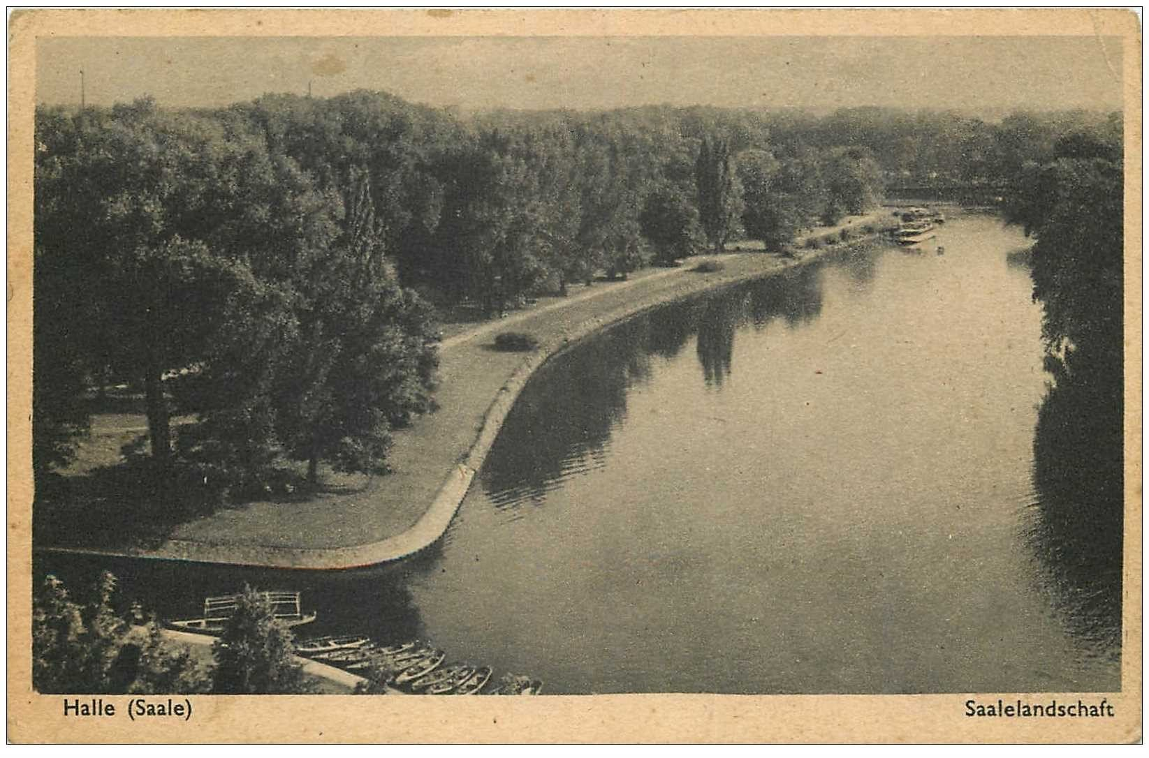 carte postale ancienne DEUTSCH ALLEMAGNE. Halle Saale Saalelandschaft