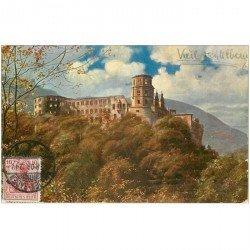 carte postale ancienne DEUTSCH ALLEMAGNE. Heidelberg 1908