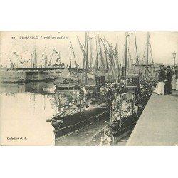 carte postale ancienne 14 DEAUVILLE. Casino Municipal et Bateau du Havre 1913