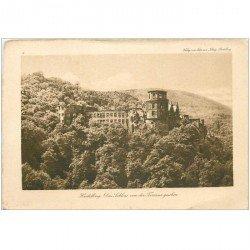 carte postale ancienne DEUTSCH ALLEMAGNE. heidelberg das Schloss von der Terrasse gesehen.