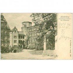carte postale ancienne DEUTSCH ALLEMAGNE. Heidelberg Schloss 1902
