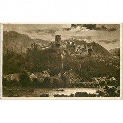 carte postale ancienne DEUTSCH ALLEMAGNE. Heidelberg von der hirschgasse 1911