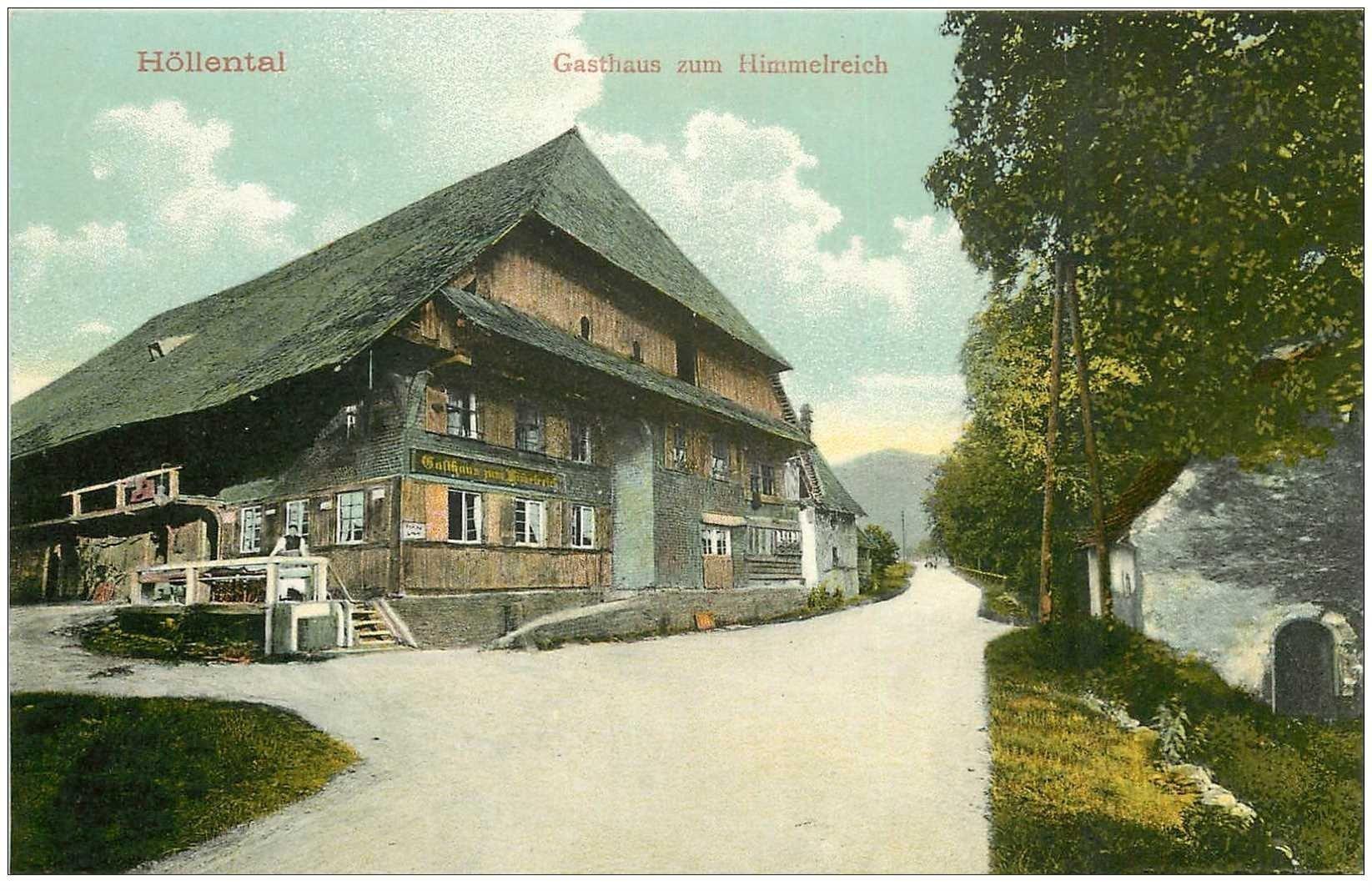 carte postale ancienne DEUTSCH ALLEMAGNE. Höllental Gasthaus zum Himmelreich