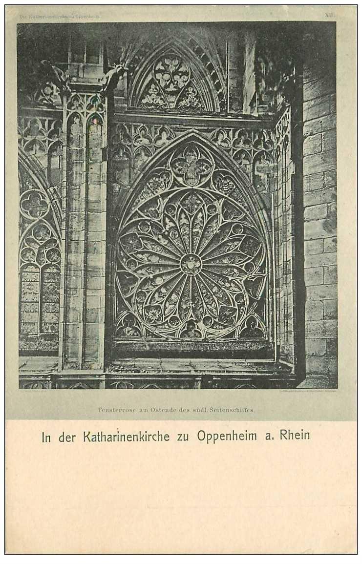 carte postale ancienne DEUTSCH ALLEMAGNE. katharinenkirche zu Oppenheim Rhein