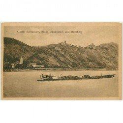 carte postale ancienne DEUTSCH ALLEMAGNE. Kloster Bornhofen Ruine Liebenstein und Sternberg 1914