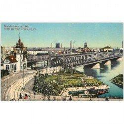 carte postale ancienne DEUTSCH ALLEMAGNE. Rheinbrücken bei Kehl 1919