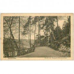 carte postale ancienne DEUTSCH ALLEMAGNE. Saarbrücken Partie am Deutsch Mühlenweiher 1919