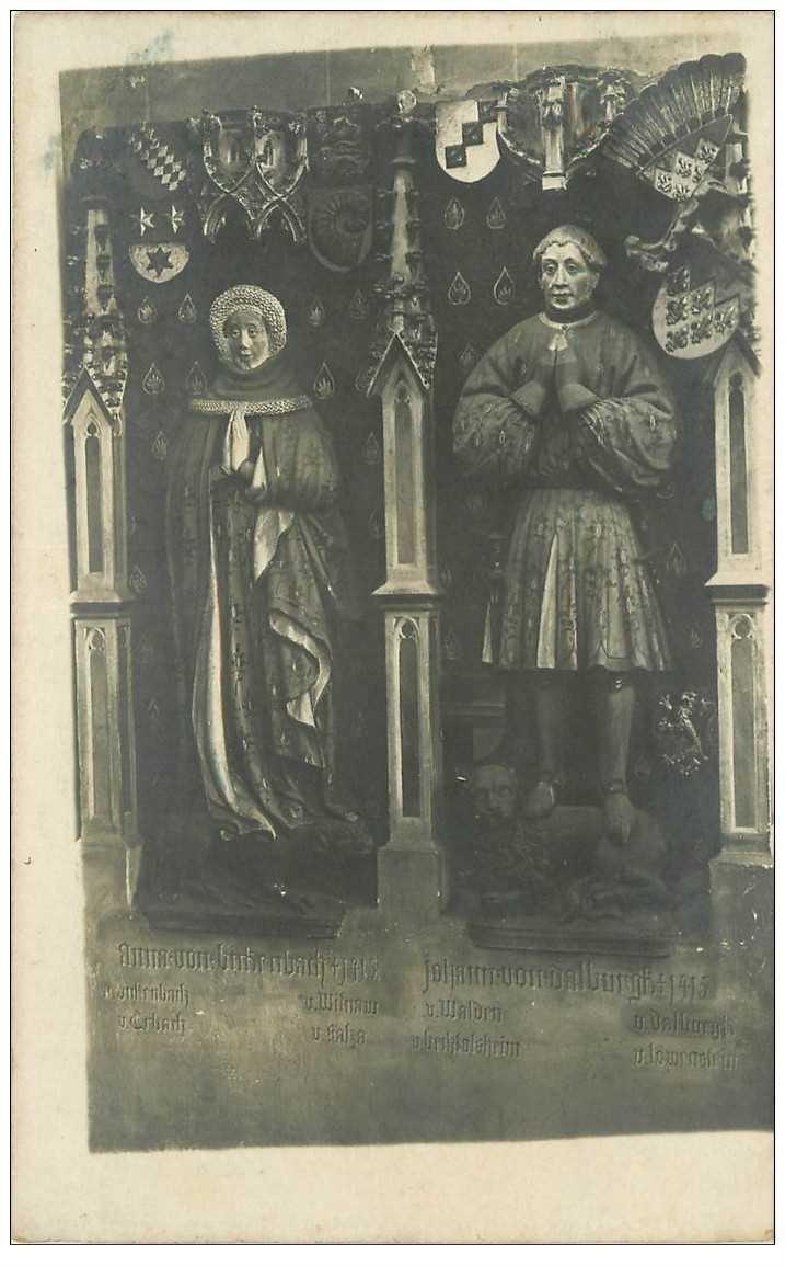 carte postale ancienne DEUTSCH ALLEMAGNE. Statues mortuaires ou Gisants