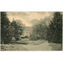 carte postale ancienne DEUTSCH ALLEMAGNE. Wallerfangen Saar Park