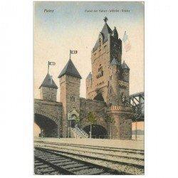 carte postale ancienne DEUTSCHES ALLEMAGNE. Mainz Portal des Kaiser Wilhelm Brücke 1918