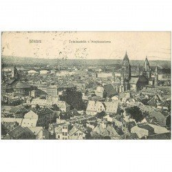 carte postale ancienne DEUTSCHES ALLEMAGNE. Mainz Totalansicht Stephansturm 1922