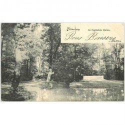 carte postale ancienne DEUTSCHES ALLEMAGNE. München im Englischen Garten 1903