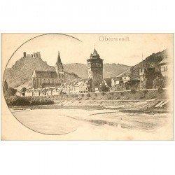 carte postale ancienne DEUTSCHES ALLEMAGNE. Oberwesel vers 1900