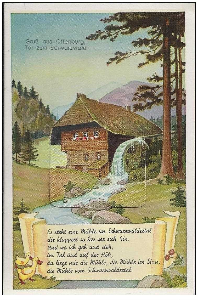 carte postale ancienne DEUTSCHES ALLEMAGNE. Offenburg Tor zum Schwarzwald avec 10 mini-vues en accordéon