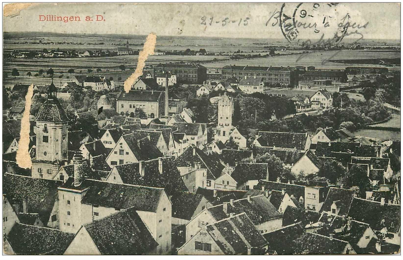 carte postale ancienne DILLIGEN1915. Défauts...