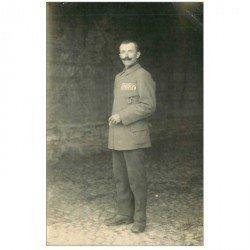 carte postale ancienne FOTOKAART BADEN BADE. Camp de Heuberg. Prisonnier de Guerre Lailler Gustave