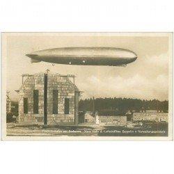 carte postale ancienne Frieedrichshafen am Bodensee. Neue Halle Luftshiffbau ZEPPELIN Verwaltungsgebäude 1930.