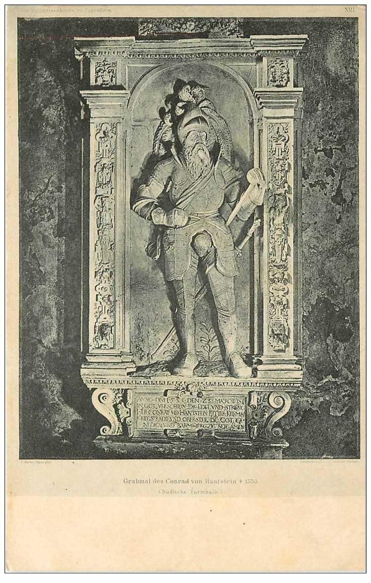 carte postale ancienne Grabmal des Conrad von Hantstein