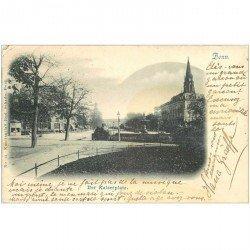 carte postale ancienne Gruss aus BONN 1900. Der Kaiserplatz