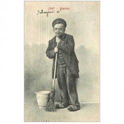 carte postale ancienne Gruss aus DIEPHOLZ. Fidi Balayeur 1907. Vieux Métiers