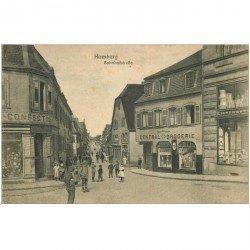 carte postale ancienne HOMBURG. Bahnofstrasse 1918 Central Drogerie