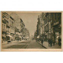 carte postale ancienne MANNHEIM. Breite Strasse 1922. Timbre manquant...