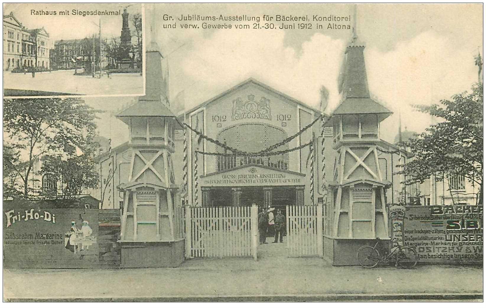carte postale ancienne AUTRICHE OSTERREICH. Leipzig. Jubiläums Ausstellung für Bäckerei Konditorei und verw in Altona