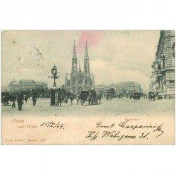 carte postale ancienne Gruss aus WIEN. Votivkirche 1899