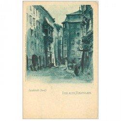carte postale ancienne INNSBRUCK. Der Alte Stadtplatz vers 1900