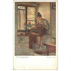 carte postale ancienne OSTERREICH AUTRICHE. Der Vogelfreund Karl Zewy pinx