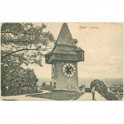 carte postale ancienne OSTERREICH AUTRICHE. Graz Uhrturm 1909