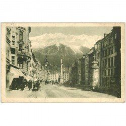 carte postale ancienne OSTERREICH AUTRICHE. Innsbruck. Maria Theresienstrasse 1910